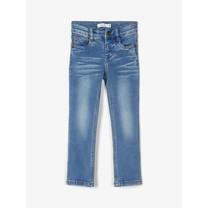 jongens spijkerbroek Theo tags medium blue denim
