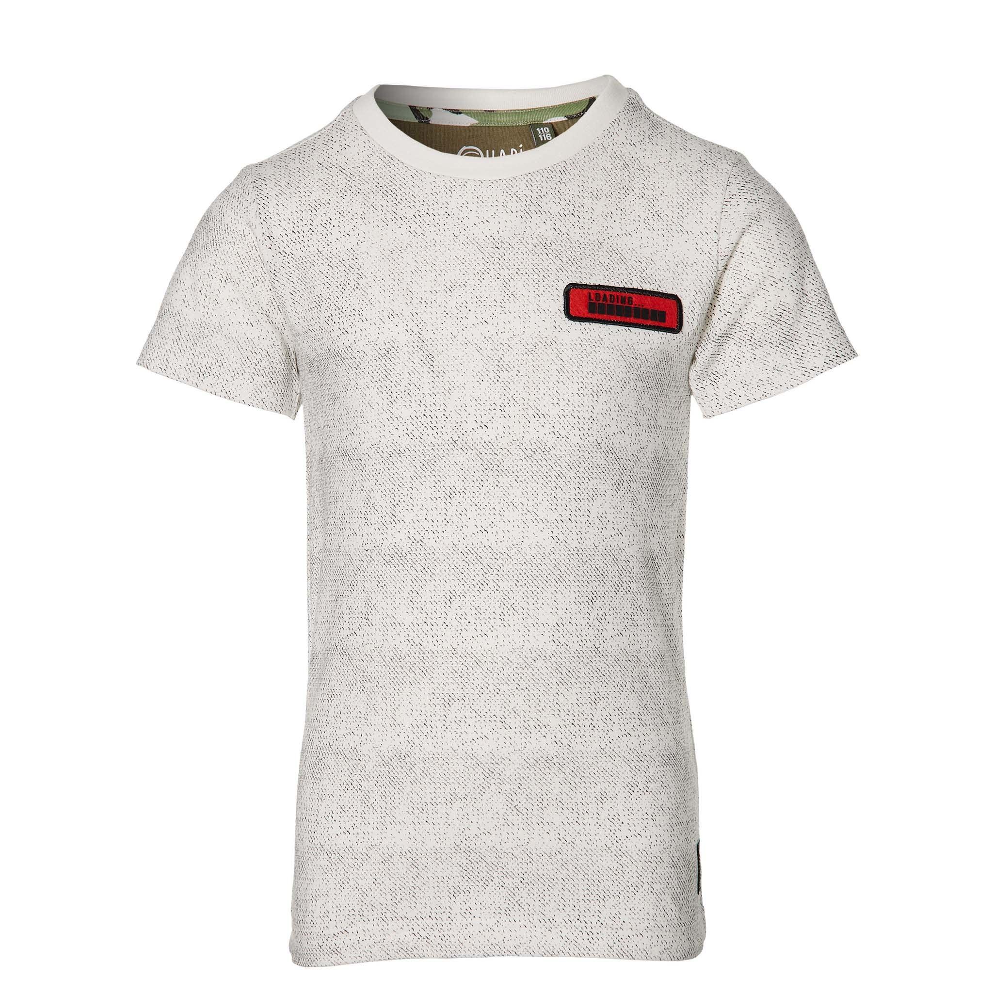 jongens T-shirt Fabian of white grunge
