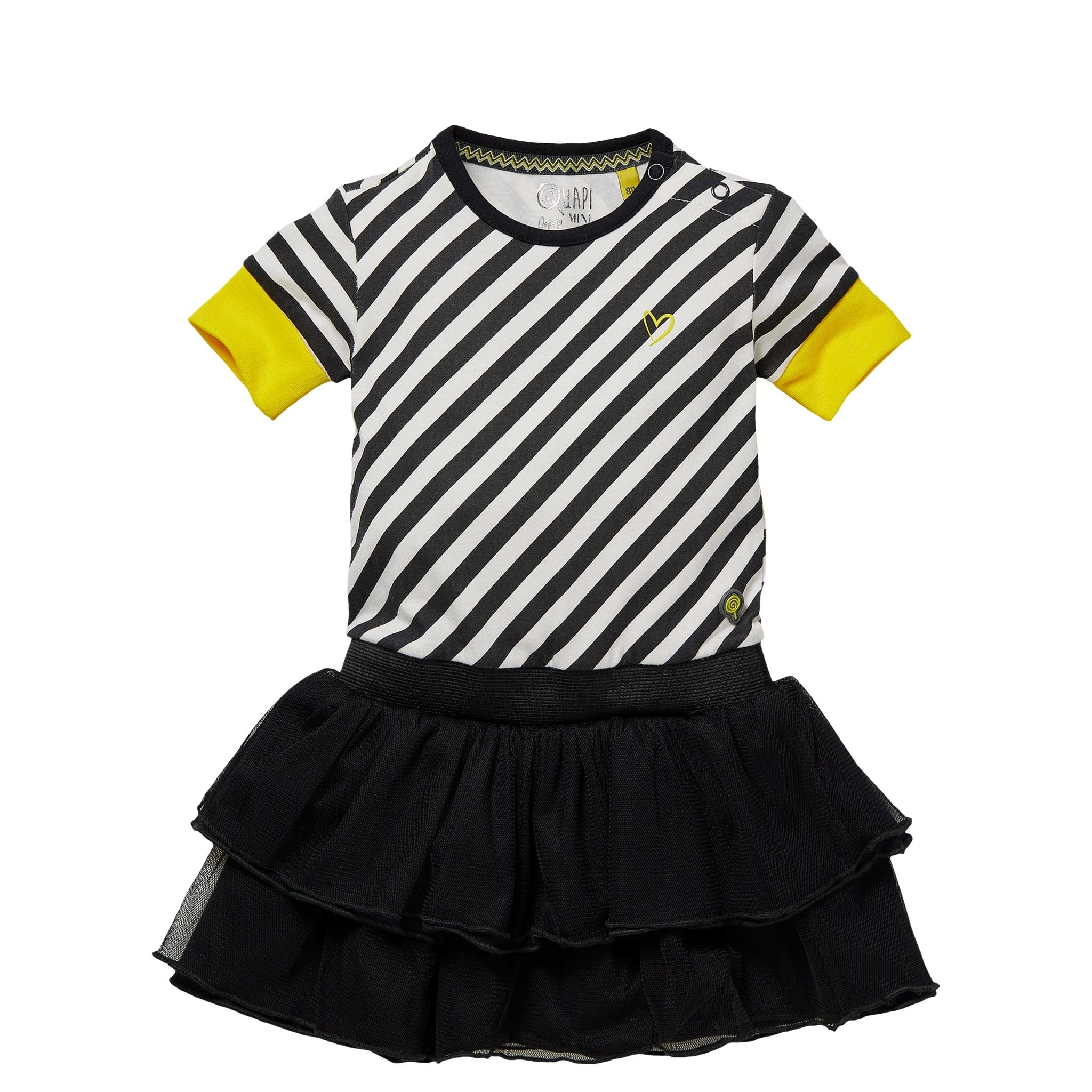 jurk Gea grey stripe