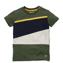 jongens T-shirt Garvin army green