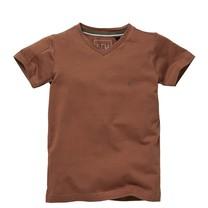 jongens T-shirt Nais copper brown