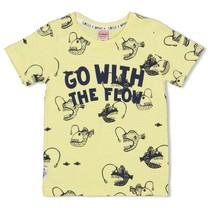 T-shirt aop geel - Smile&Wave