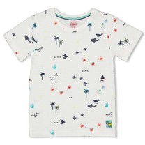 T-shirt aop wit - Smile&Wave