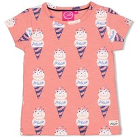 T-shirt aop koraal - sweet gelato