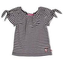 T-shirt streep antraciet - Tutti Frutti