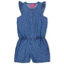jumpsuit kort aop blue denim - Summer Denims