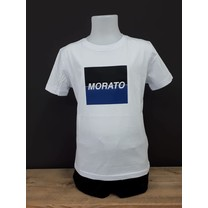 T-shirt regular fit with embossed logo square white