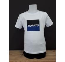 Antony Morato T-shirt regular fit with embossed logo square white