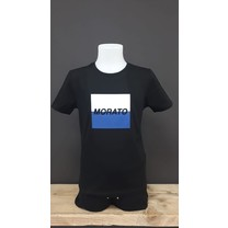 T-shirt regular fit with embossed logo square black