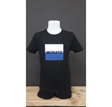 Antony Morato T-shirt regular fit with embossed logo square black