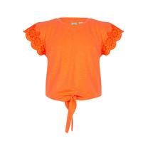 meisjes T-shirt bright orange