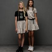 Elle Chic T-shirt pailletten en steentjes black