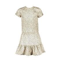 jurk geschetste luipaardstippen being beige