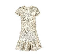 Elle Chic jurk geschetste luipaardstippen being beige