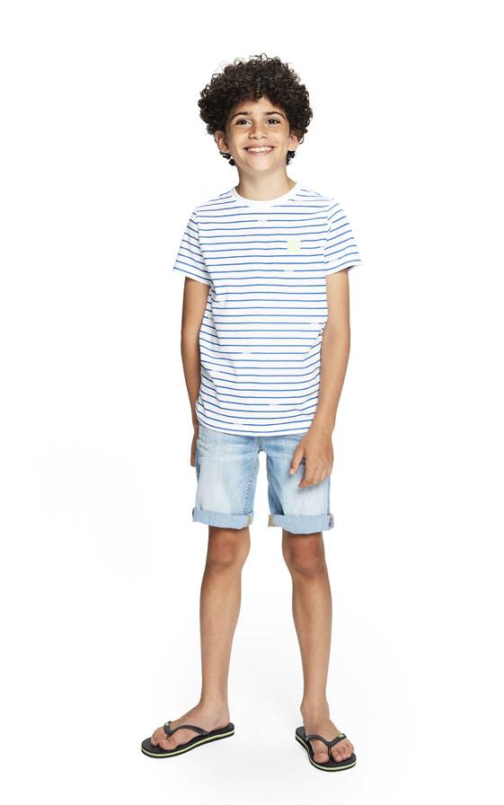 jongens T-shirt Micha white