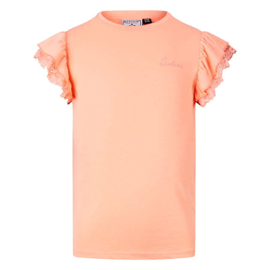 meisjes T-shirt Hanna peach