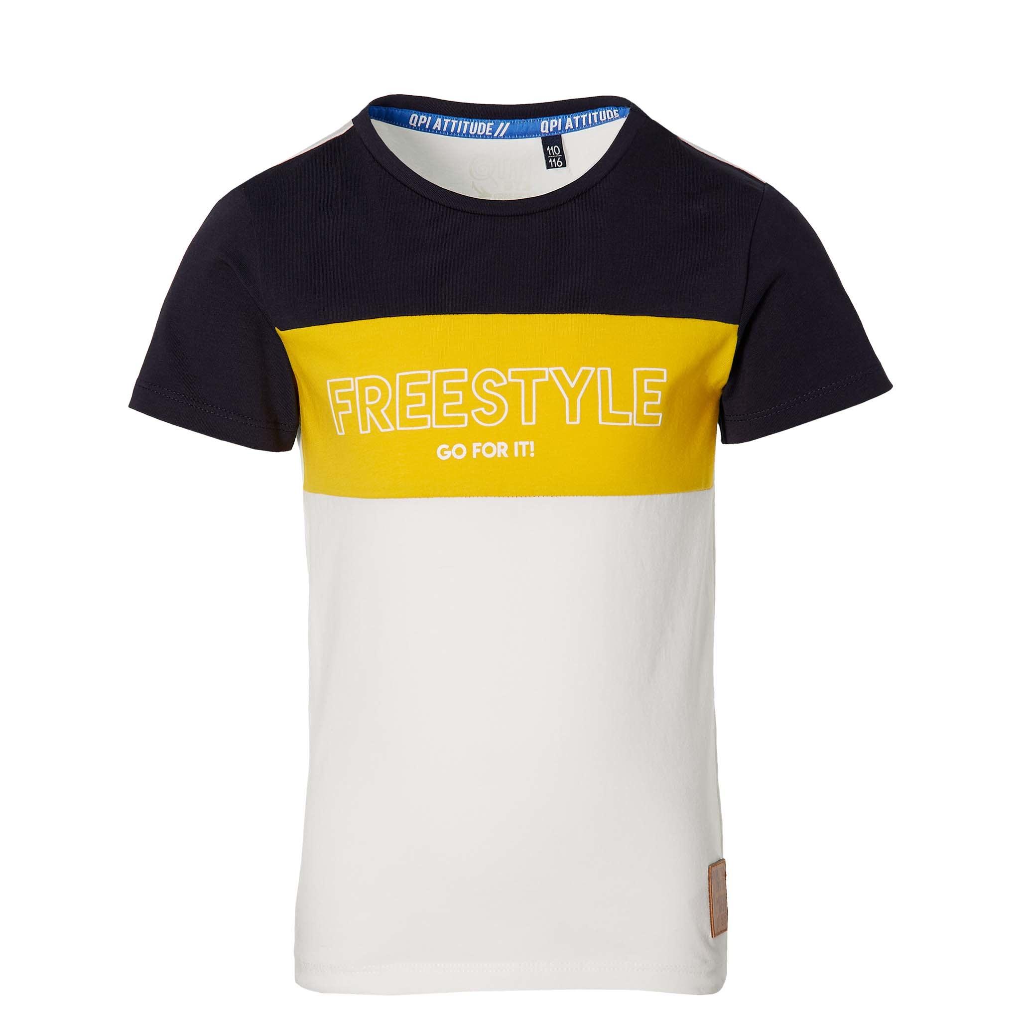 jongens T-shirt Fadi white