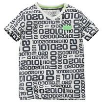 jongens T-shirt Gavino dark grey letter