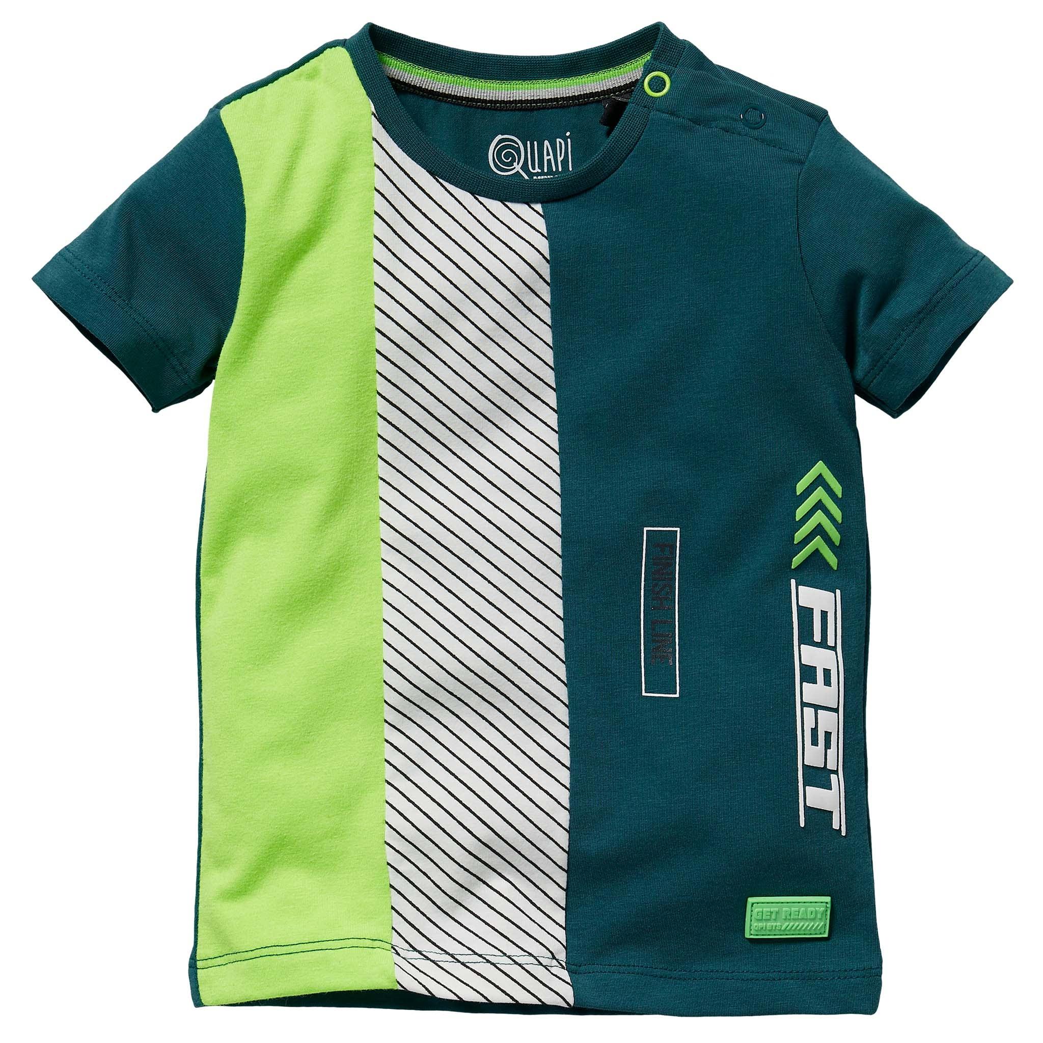 jongens T-shirt Gerwin ocean green