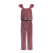 jumpsuit met plissé mix dots