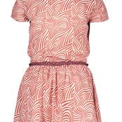 B.Nosy jurk geweven met contrasterende riem mix zebra