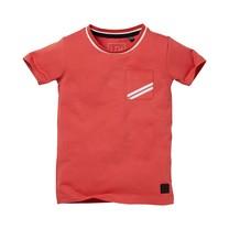 jongens T-shirt Navaro cranberry