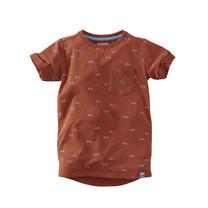 jongens T-shirt Flip bombay brown