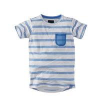 jongens T-shirt Cenzo bright white/ocean drive