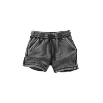 jongens short Pax acid wash black