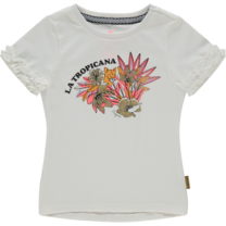 meisjes T-shirt Hieke off white