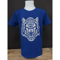T-shirt slim fit 3D print dark cobalt