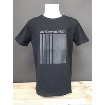 T-shirt super slim fit with rubber 3D print black