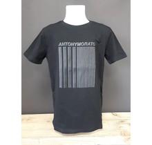 Antony Morato T-shirt super slim fit with rubber 3D print black