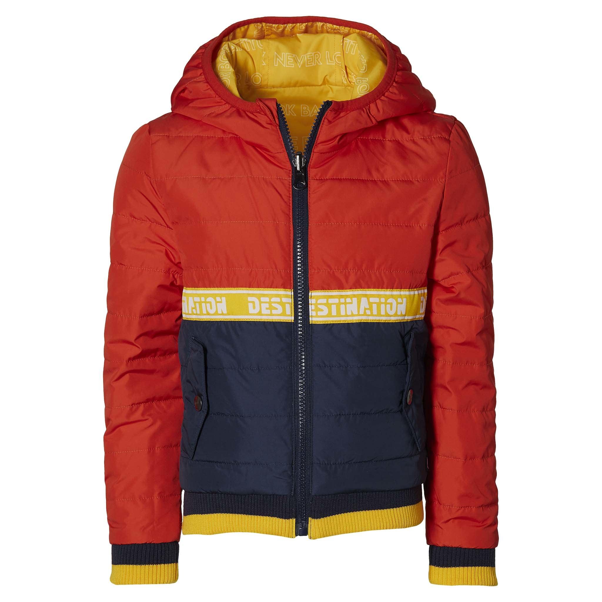 jongens zomerjas Fred reversibel warm yellow & orange red