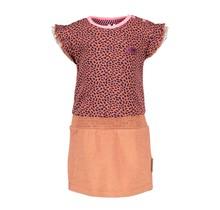B.Nosy jurk met lurex jersey rokgedeelte mix dots