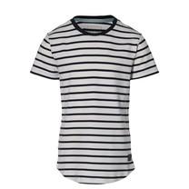 jongens T-shirt Mats dark blue stripe