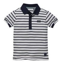 jongens polo Nevlin white stripe