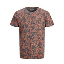 T-shirt Lefo aop light grey melange