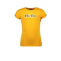 meisjes T-shirt open schouders sunflower