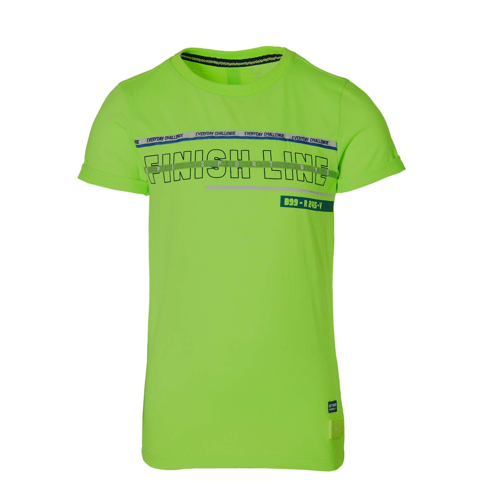 jongens T-shirt Felipe neon green