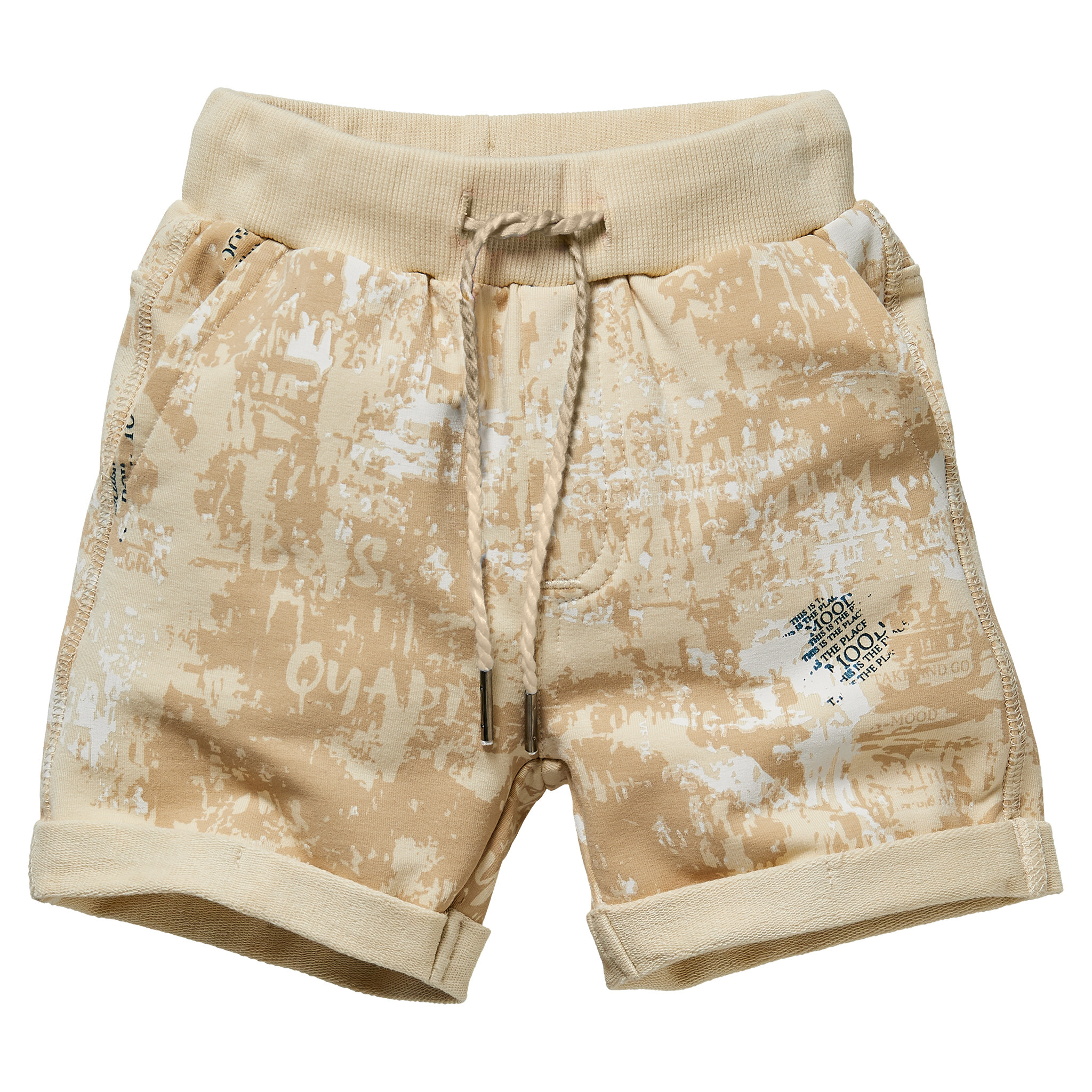 jongens short Giver dark sand splatter