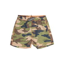 jongens zwemshort loose fit Army