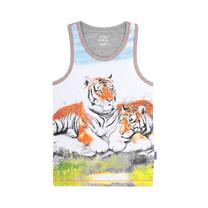 jongens singlet 2-pack tiger