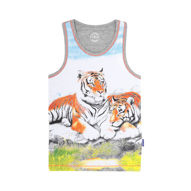 Claesen's jongens singlet 2-pack tiger