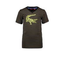 T-shirt stripe crocodile army