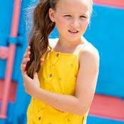 B.Nosy meisjes tanktop met knoop cheer banana yellow