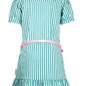 B.Nosy jurk met gedrukte streep en fancy riem tropical green stripe