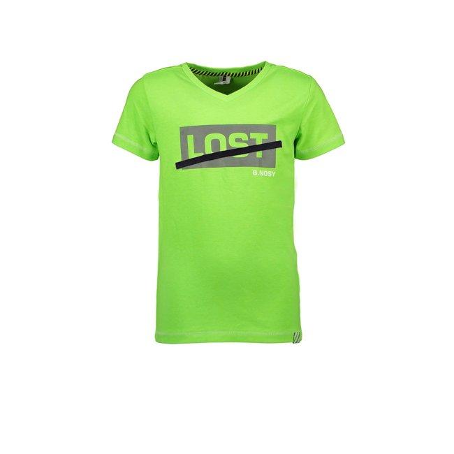 B.Nosy jongens T-shirt v-neck gecko green