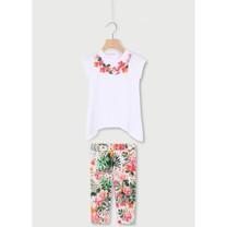2-delige set Tuniek+legging white/flowers