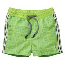 jongens zwemshort Giani neon green letter